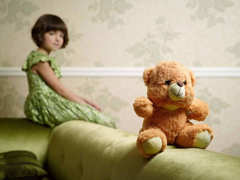 separating the child from the stuffed animal