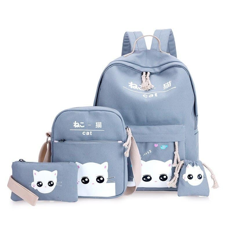 Girl's School Backpack 4 pcs Set 3