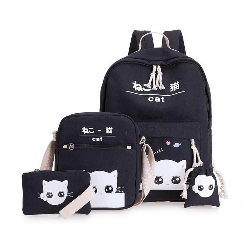 Girl's School Backpack 4 pcs Set 4