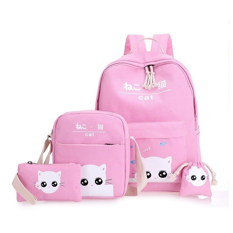 Girl's School Backpack 4 pcs Set 2