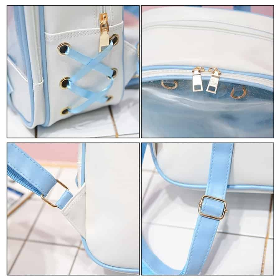 Clear Women's Lolita Backpack with Bow 2