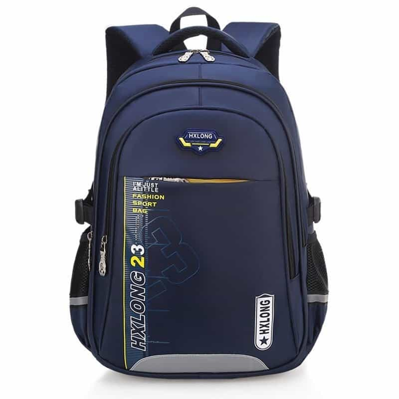 Waterproof Reflective Striped Kid's School Backpack