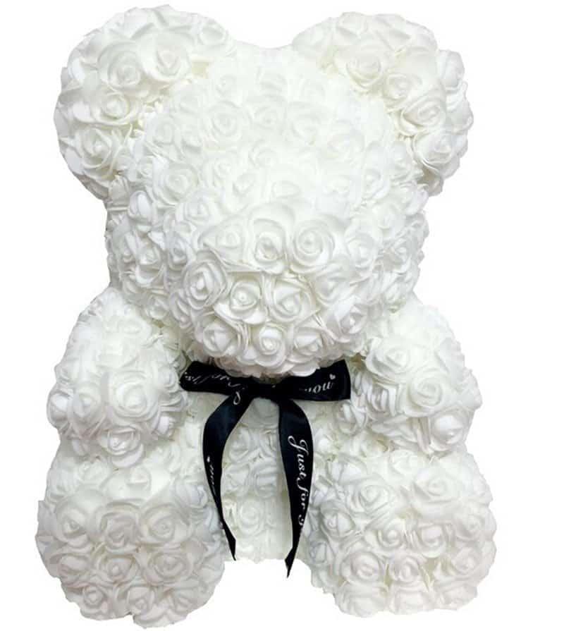 40/25cm Artificial Rose Flower Teddy Bear 3