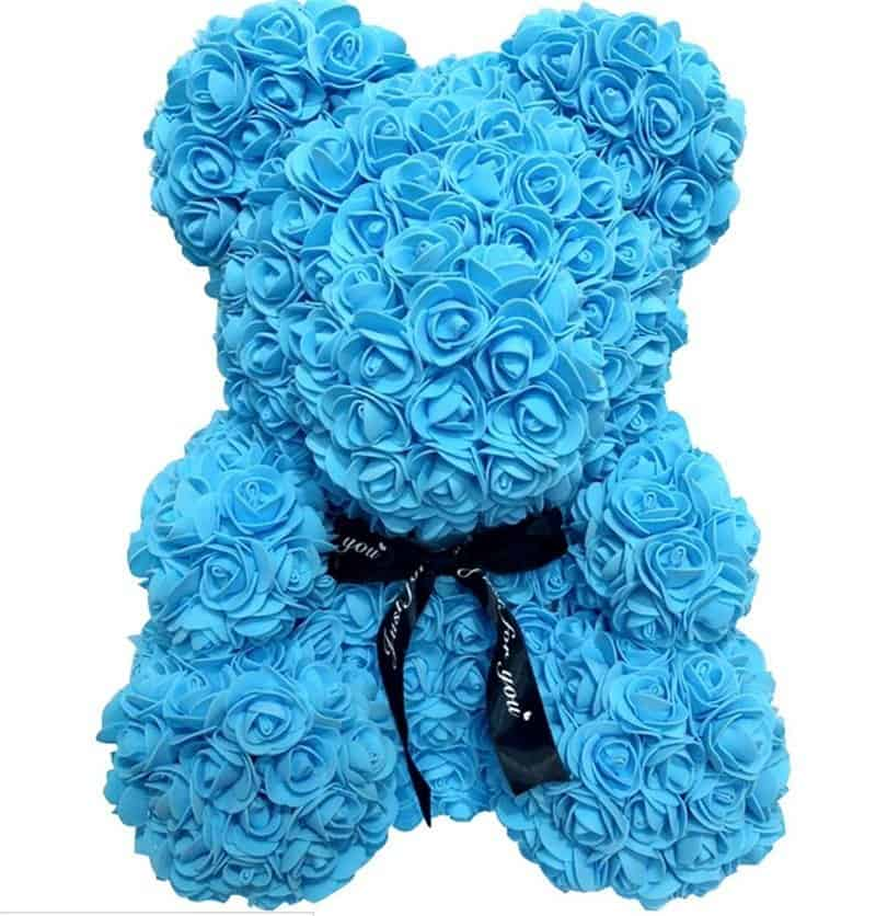 40/25cm Artificial Rose Flower Teddy Bear 5