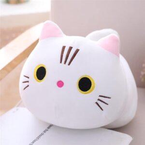 25 cm Open Eyes White Cat Plush Pillow