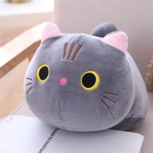 35 cm Open Eyes Gray Cute Cat Soft Pillow