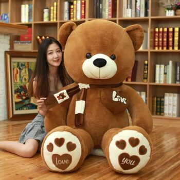 80/100cm Large Teddy Bear With Scarf