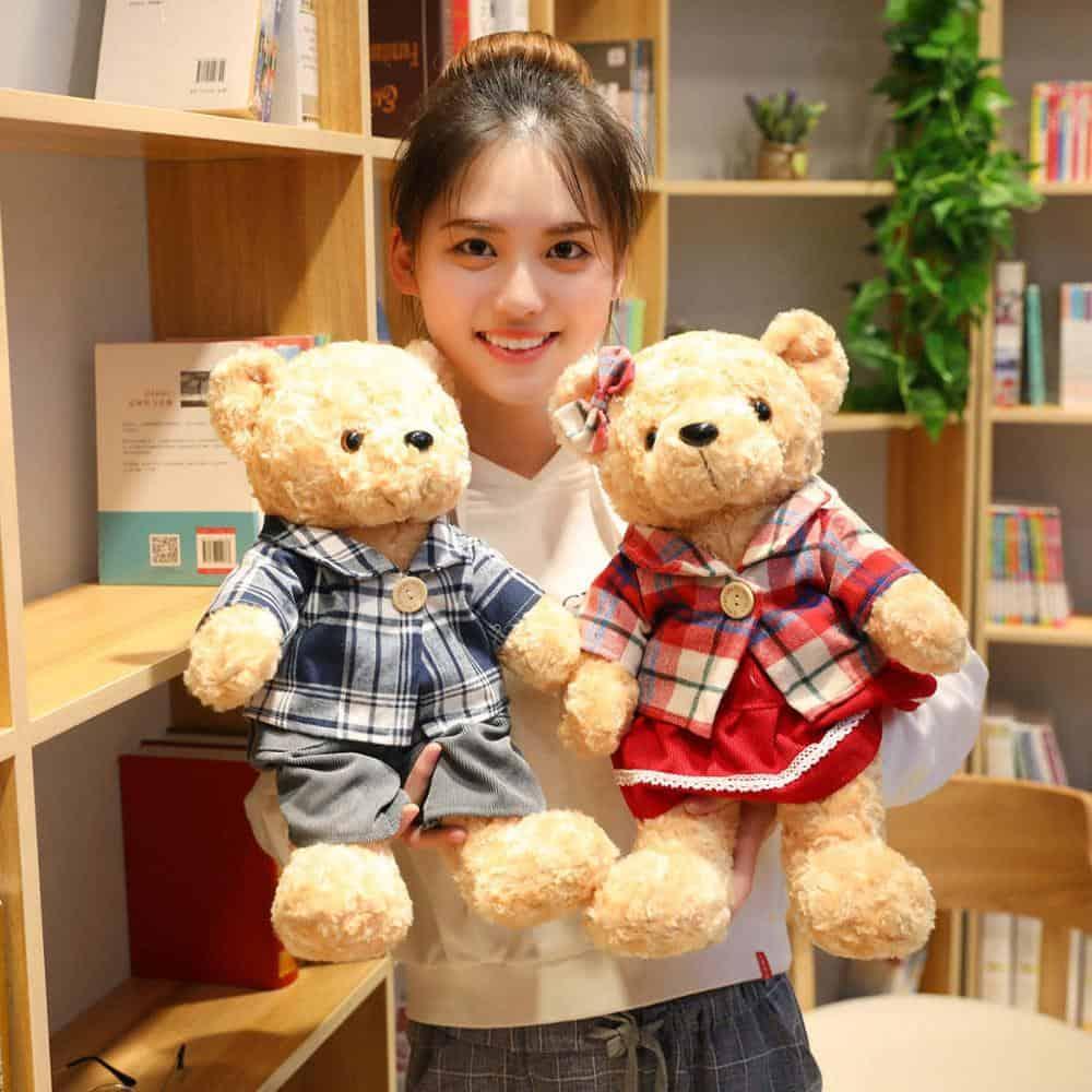 45cm Lovely Couple Teddy Bear Stuffed Animal Toy 1