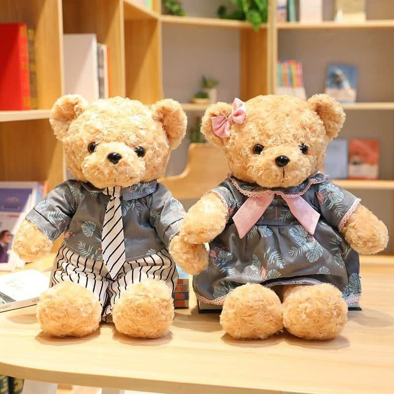 45cm Lovely Couple Teddy Bear Stuffed Animal Toy 2