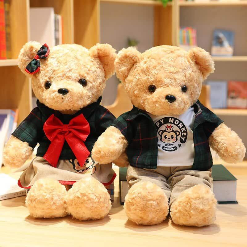 45cm Lovely Couple Teddy Bear Stuffed Animal Toy 3