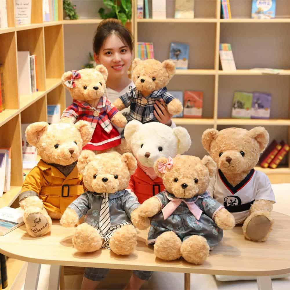 45cm Lovely Couple Teddy Bear Stuffed Animal Toy 4