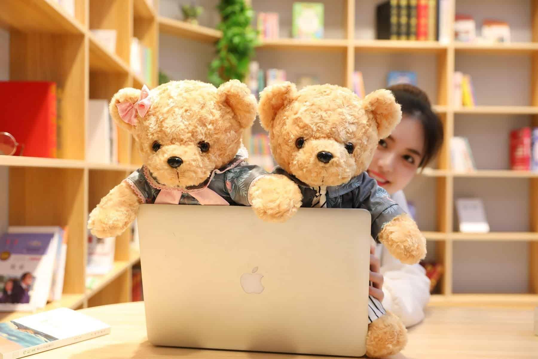 45cm Lovely Couple Teddy Bear Stuffed Animal Toy 5