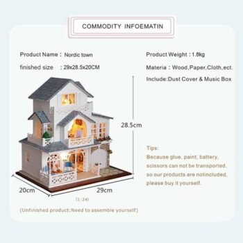 Nordic Town Doll House 1