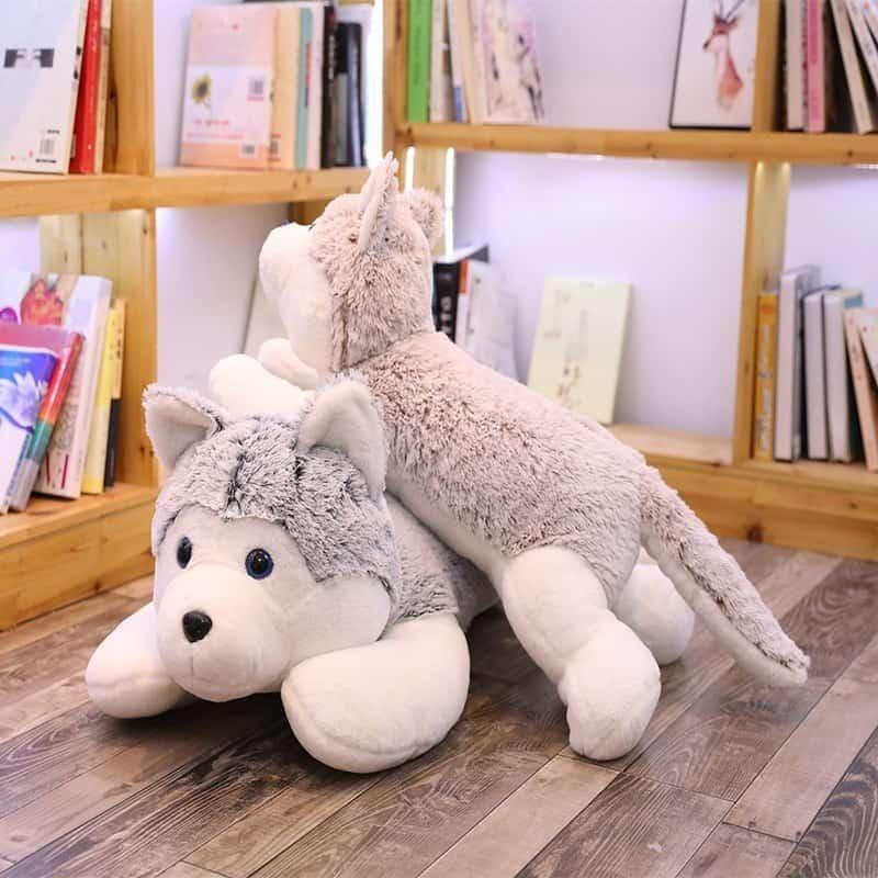 Siberian Husky Stuffed Animal Toy 1