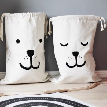 Cartoon Design Drawstring Toy Storage