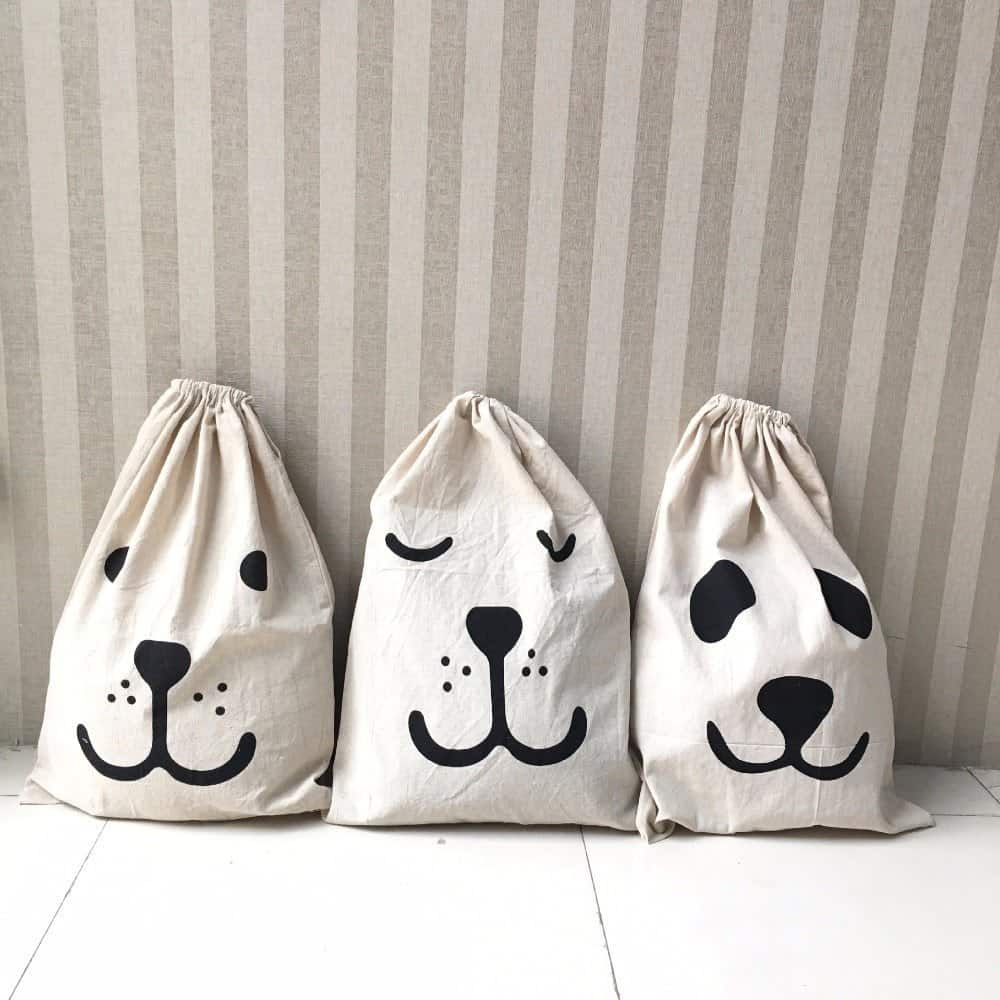 Cartoon Design Drawstring Toy Storage 4