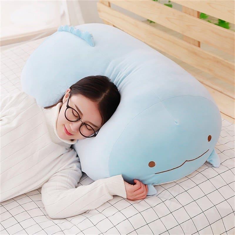 Sleeping on a Sumikko Gurashi Plushies
