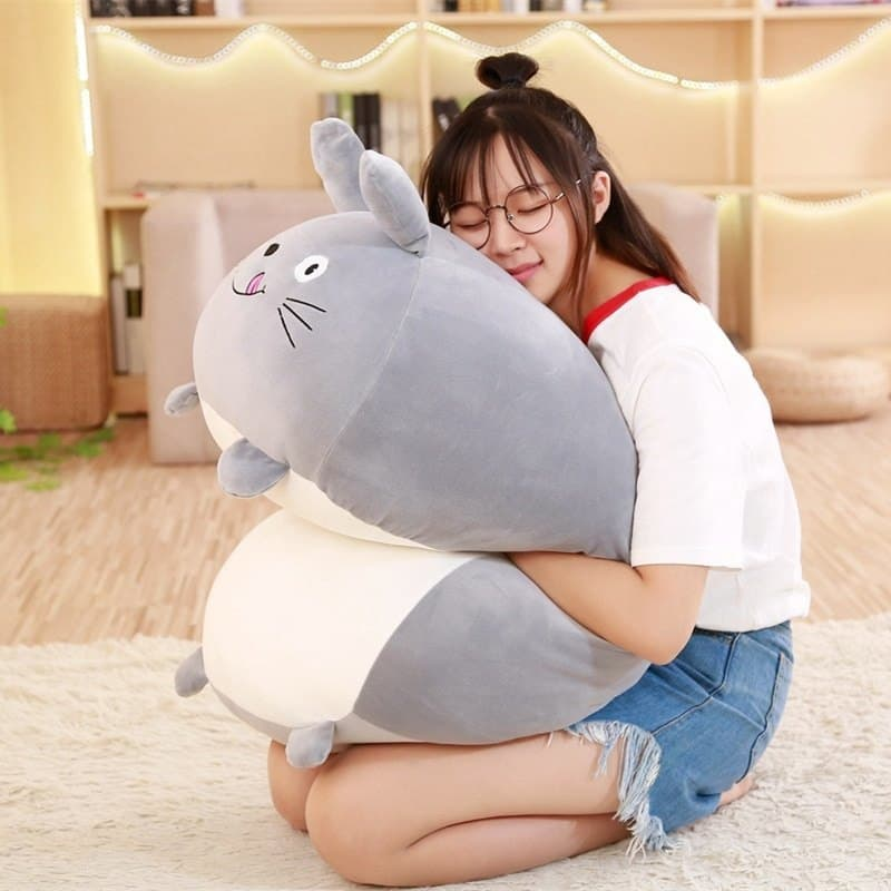 Hugging a Sumikko Gurashi Plush