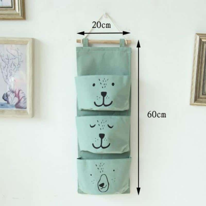 Wall Hanging Cotton Linen Toy Storage 1