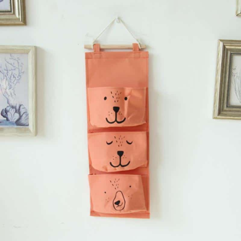 Wall Hanging Cotton Linen Toy Storage 2