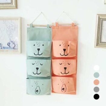 Wall Hanging Cotton Linen Toy Storage