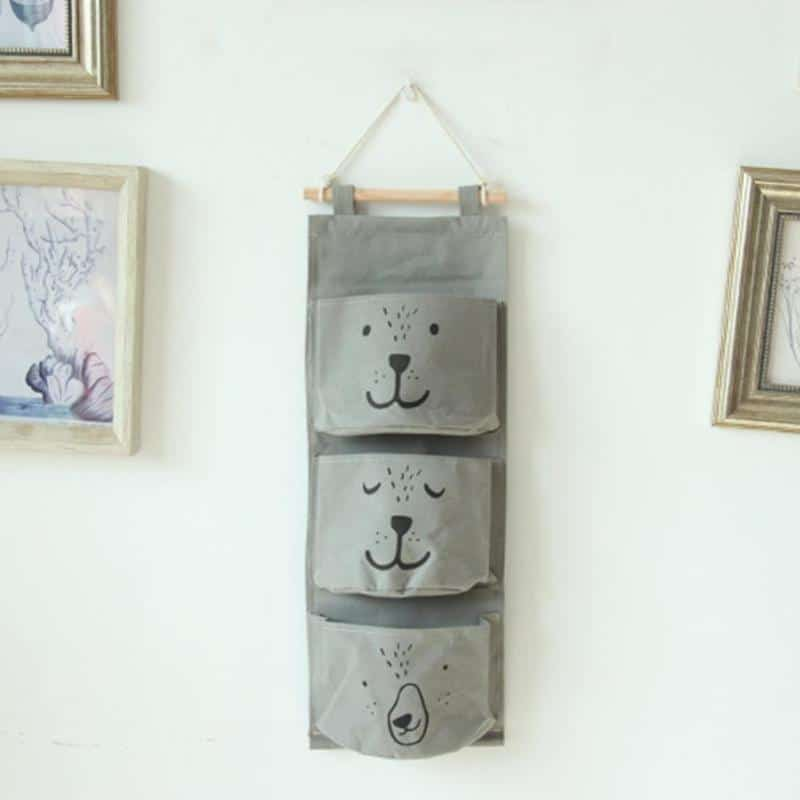 Wall Hanging Cotton Linen Toy Storage 3