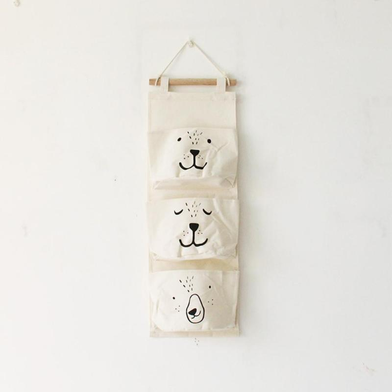 Wall Hanging Cotton Linen Toy Storage 4