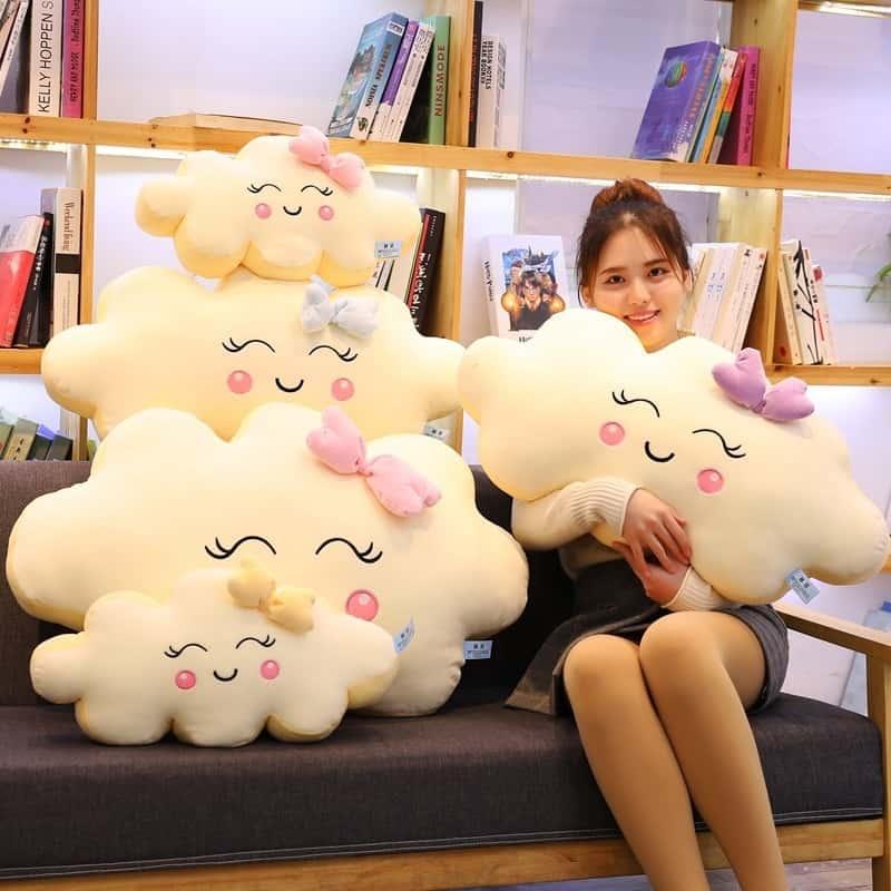 Giant Kawaii Cloud Plush Pillow