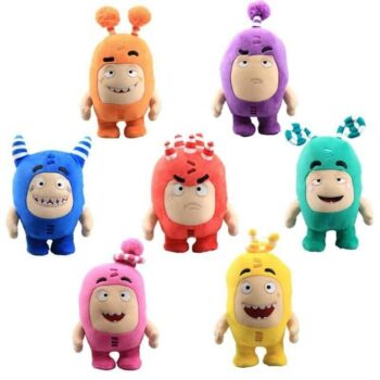 multiple colors of oddbods plush toy