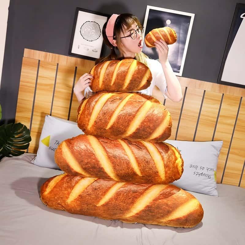 Cute Bread Plush Pillow 4