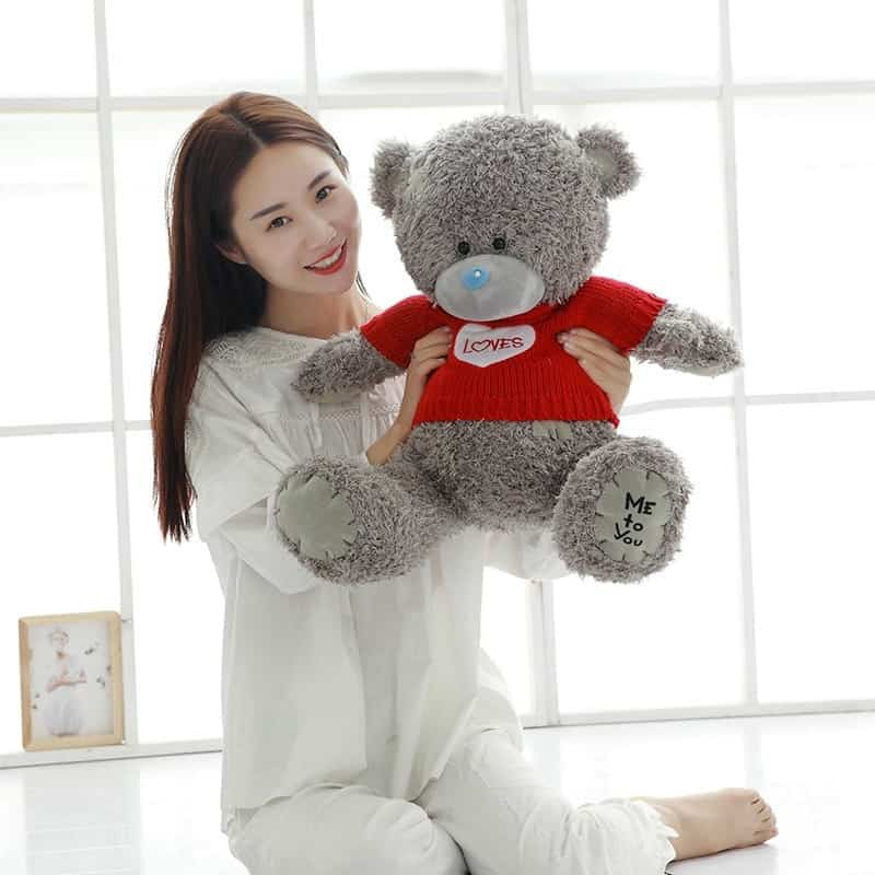Cute Gray Teddy Bear