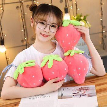Cute Strawberry Plush Pillow 0