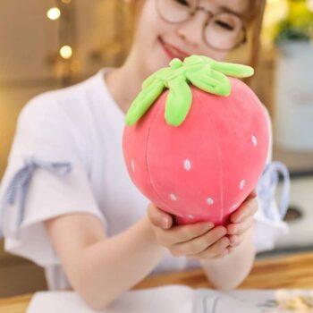 Cute Strawberry Plush Pillow 1
