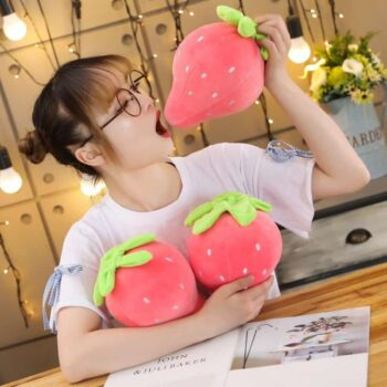 Cute Strawberry Plush Pillow