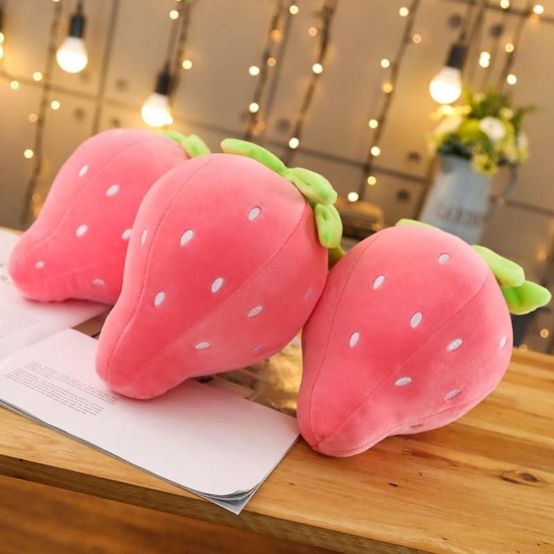 Cute Strawberry Plush Pillow 3