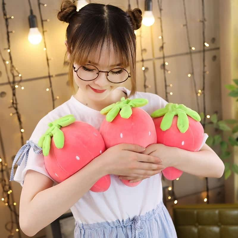 Cute Strawberry Plush Pillow