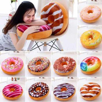 Doughnut Plush Pillow