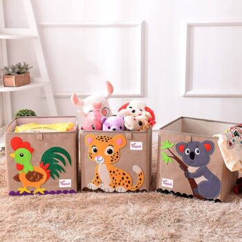 Cotton Linen Kids Toy Storage Box 0