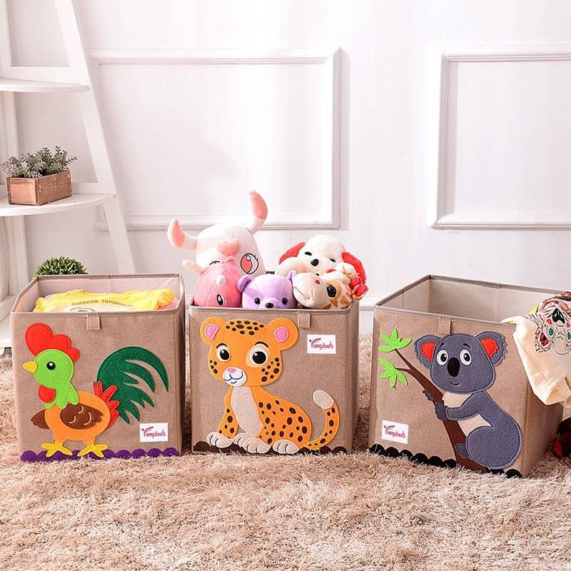 Cotton Linen Kids Toy Storage Box 1