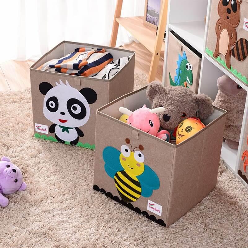 Cotton Linen Kids Toy Storage Box 2
