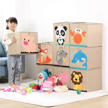 Cotton Linen Kids Toy Storage Box