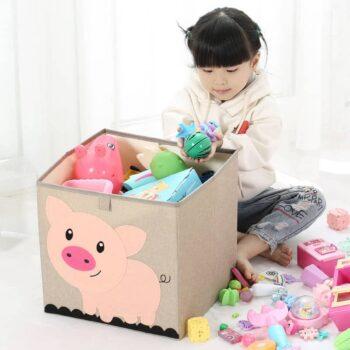 Cotton Linen Kids Toy Storage Box 3