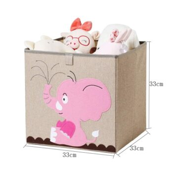 Cotton Linen Kids Toy Storage Box 4