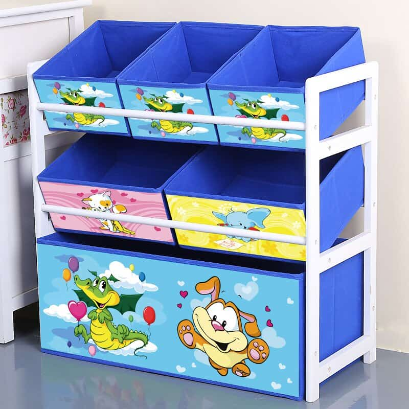 Solid Wood Kids Toy Shelf