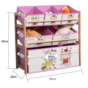 Wood Kids Toy Shelf 1