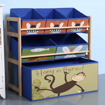 Solid Wood Kids Toy Shelf
