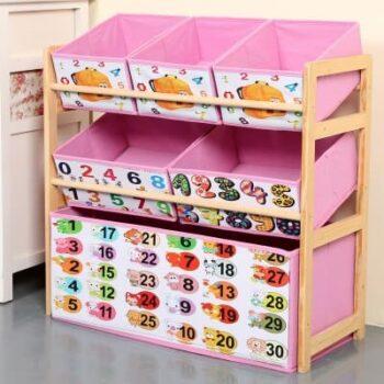Wood Kids Toy Shelf 4