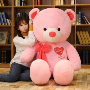 large pink teddy bear 80cm