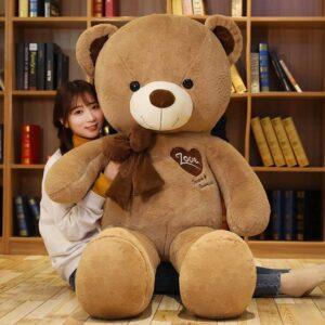 large brown teddy bear 80cm