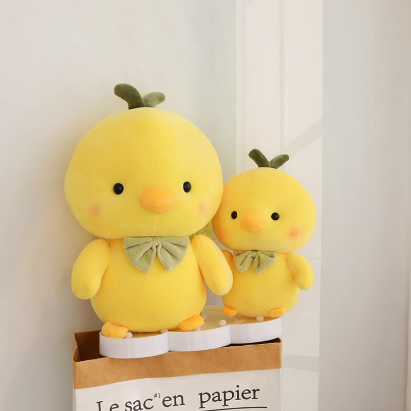 Cute Yellow Chicken Stuffed Animal 2